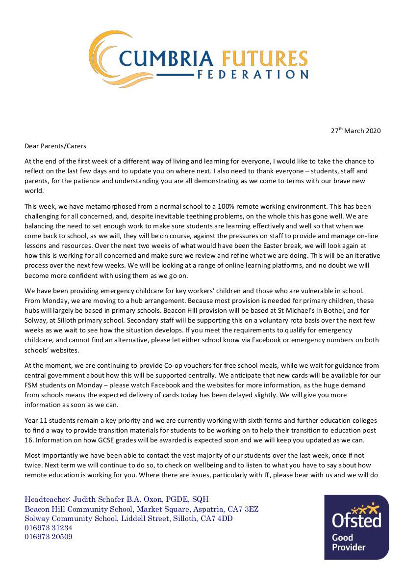 End of Term Letter 270320 part1