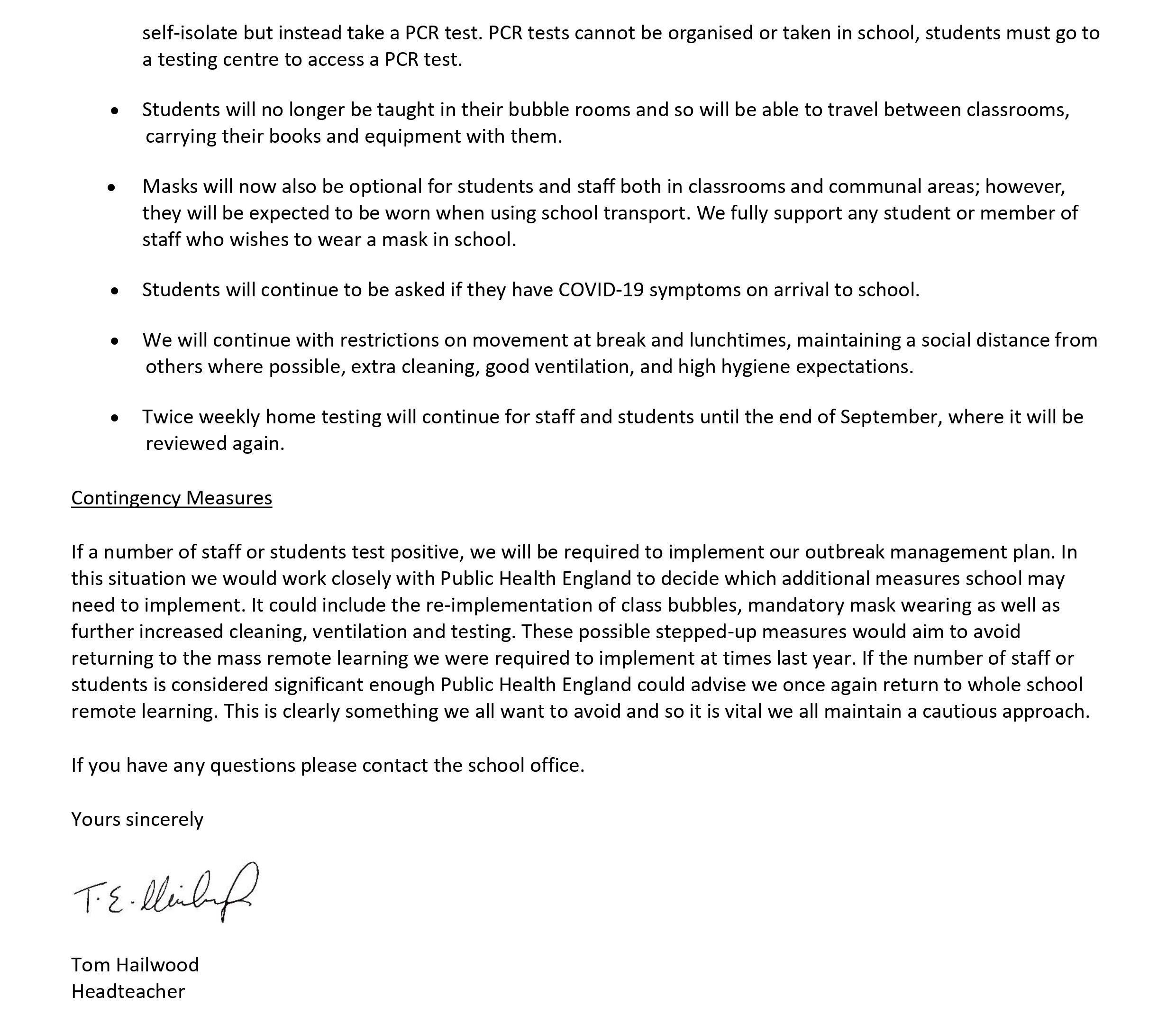 Return to School Letter August 2021 pg2